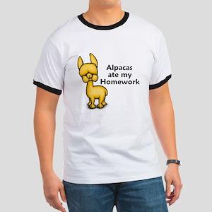 Alpacas ate my Homework Ringer T