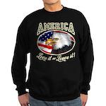 America - Love it Sweatshirt (dark)