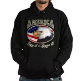American flag Dark Hoodies