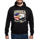 America - Love it Hoodie (dark)
