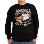 RETRO America- Love it ot Lea Sweatshirt (dark)