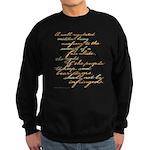 2nd Amendment Script Sweatshirt (dark)