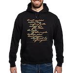 2nd Amendment Script Hoodie (dark)