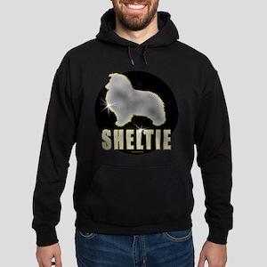 Bling Sheltie Hoodie (dark)