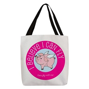 Pig Polyester Tote Bags - CafePress b311a91ae044f