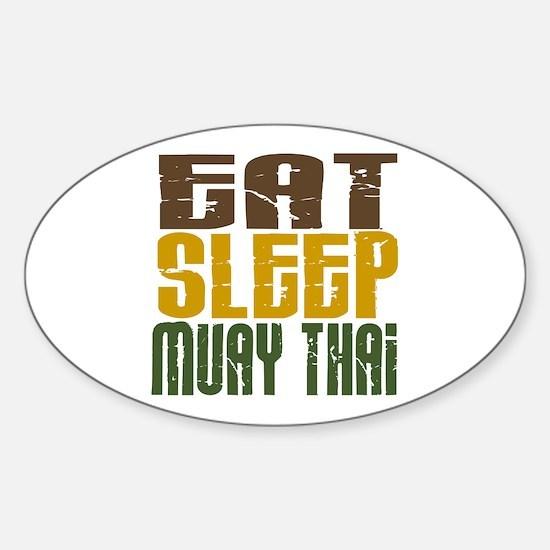 Eat Sleep Muay Thai Oval Decal