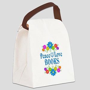 Peace Love Books Canvas Lunch Bag
