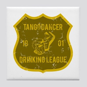Tango Dancer Drinking League Tile Coaster