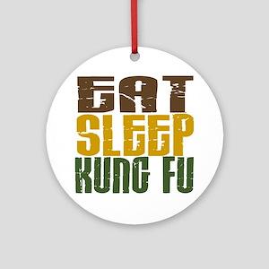 Eat Sleep Kung Fu Ornament (Round)