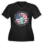 America Free and Brave Women's Plus Size V-Neck Da