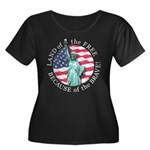 America Free and Brave Women's Plus Size Scoop Nec