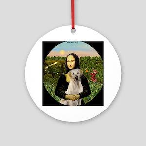 Mona Lisa & Yellow Lab Ornament (Round)