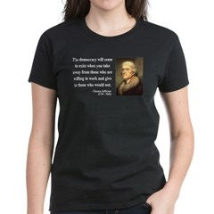 Thomas Jefferson 3 Women's Dark T-Shirt