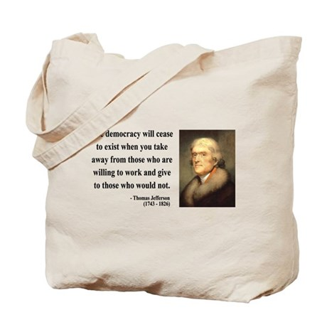 Thomas Jefferson 3 Tote Bag