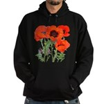 Red Poppies Hoodie (dark)