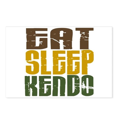 Eat Sleep Kendo Postcards (Package of 8)
