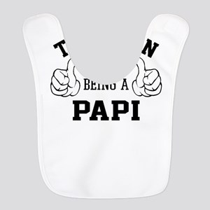This Man Loves Being A Papi Polyester Baby Bib