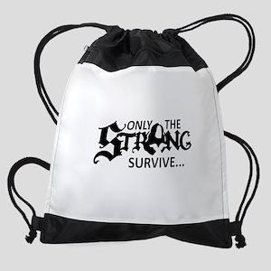 Only Strong Chi Upsilon Sigma Drawstring Bag