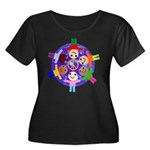 World Peace Women's Plus Size Scoop Neck Dark T-Sh