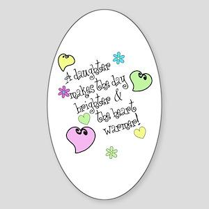 Love My Daughter Sticker (Oval)