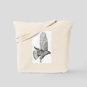 Hawk on the Hunt Tote Bag