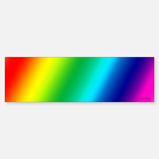 Gay Pride Rainbow Bumper Bumper Bumper Sticker