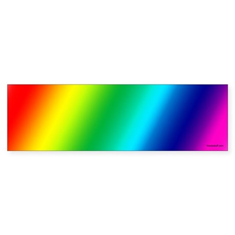 Gay Pride Rainbow Bumper Sticker