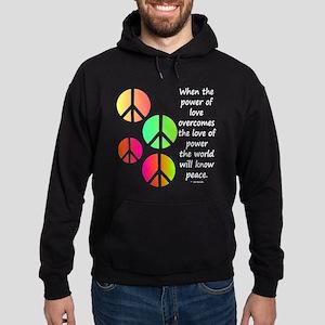 Peace and Love Hoodie (dark)