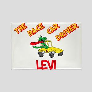 Levi Race Car Driver Rectangle Magnet