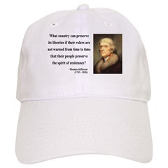 Thomas Jefferson 25 Baseball Cap