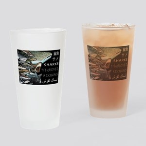 sharks of the world Drinking Glass