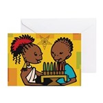 OES Kwanzaa time Greeting Cards (Pk of 10)