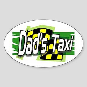 Dad's Taxi Bumper Oval Sticker