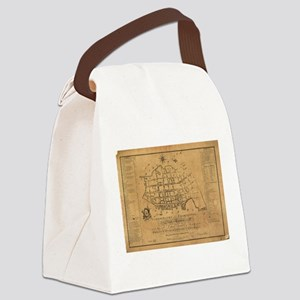 Vintage Map of Charleston South C Canvas Lunch Bag