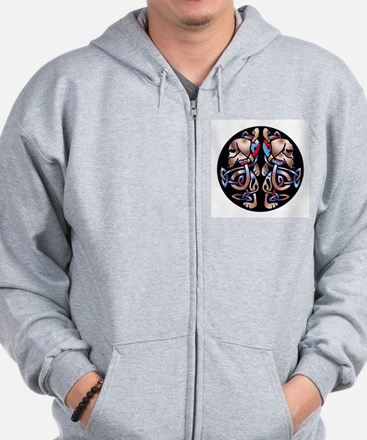 Celtic Double Dachshund Dogs Zip Hoodie