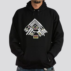 Feather Pictograph Hoodie (dark)