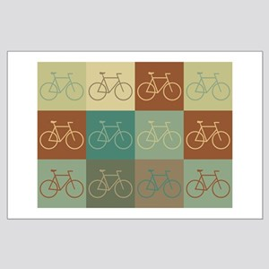 Bicycling Pop Art Large Poster