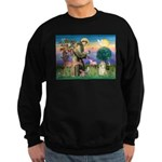 St Francis / Cocker (buff) Sweatshirt (dark)