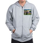 St Francis / Greyhound (f) Zip Hoodie