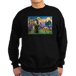 St Francis / Std Poodle(a) Sweatshirt (dark)