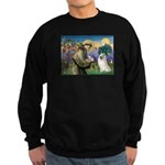 St Francis & Samoyed Sweatshirt (dark)