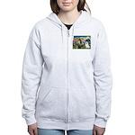 St Francis & Samoyed Women's Zip Hoodie