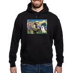 St Francis & Samoyed Hoodie (dark)