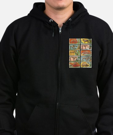 Funny Colorful Zip Hoodie (dark)