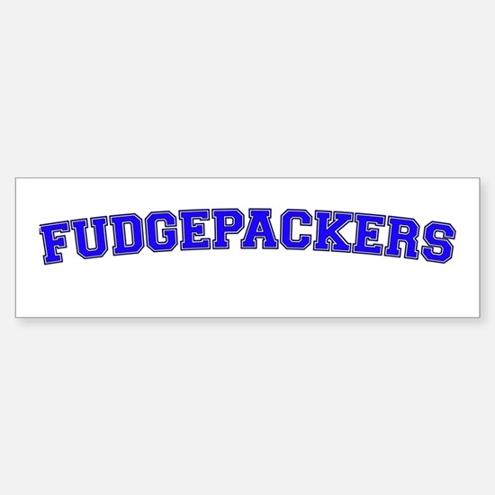 Fudgepackers Sticker (Bumper)