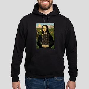 Mona Lisa & Affenpinscher Hoodie (dark)