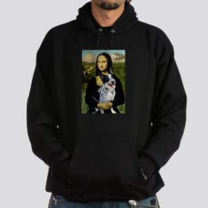 Mona Lisa/Cattle Dog Hoodie (dark)