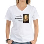 Thomas Jefferson 27 Women's V-Neck T-Shirt