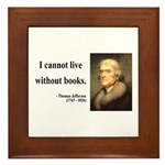 Thomas Jefferson 27 Framed Tile