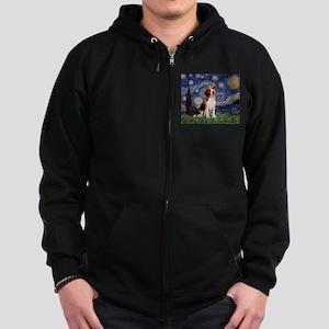 Starry Night / Beagle Zip Hoodie (dark)